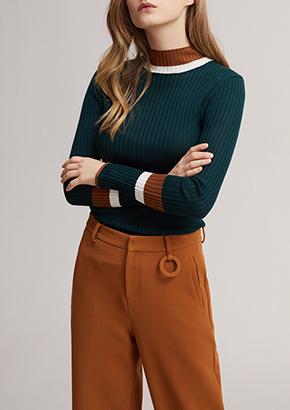 长款直筒纯色双排扣毛呢外套羊毛