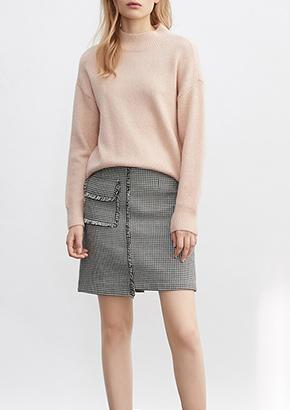 韩版直筒套头衫POLO领条纹长袖